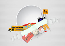 School blank ribbon Stock Image