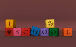 School on block. Royalty Free Stock Photo