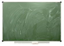 School board. Empty school board, isolated on the white Stock Photography