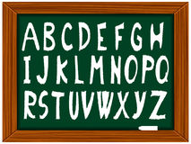 School board and alphabet Royalty Free Stock Images