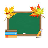 School board and  books  on white backg Royalty Free Stock Photography