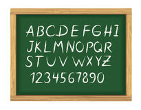 School board with chalk alphabet Royalty Free Stock Image