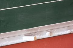 School board with chalk Stock Photo