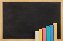 School board with color chalk Stock Image