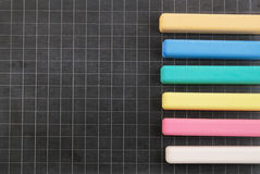 School board with color chalk Stock Images