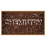School board doodle with chemistry symbols. Vector Royalty Free Stock Photos