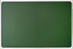 School board. Empty dark green school board stock photo