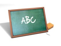 School Board. Illustration of a chalk board made in 3D royalty free illustration