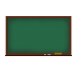 School board illustration. School green board illustration on white background Royalty Free Stock Photography