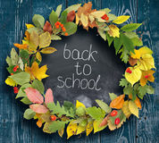 School board with the inscription `Back to school` Stock Images