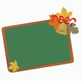 School board with leaves Royalty Free Stock Photography