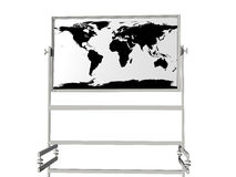 World map on white board Stock Image