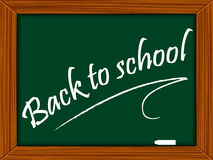 School board with message Royalty Free Stock Photography