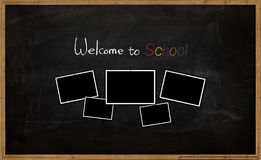 The school board with picture and text. The school board with picture and words vector illustration