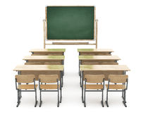 School board and school desks Royalty Free Stock Photos