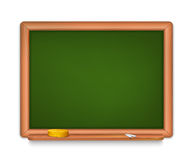 School Board. Vector illustration of blank School Board with shalks and sponge.  EPS10 Stock Photography