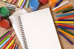 School book desk Royalty Free Stock Photography