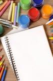 School book desk Stock Photo