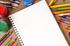 School book desk Royalty Free Stock Images