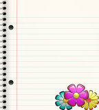 school Book with flowers  Royalty Free Stock Photography