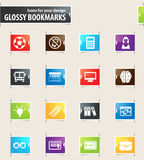 School Bookmark Icons Stock Photo