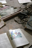 School books in the abandoned city of Pripyat, Chernobyl Stock Photos