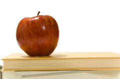 School books and apple Royalty Free Stock Photo
