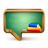 School Books and Blackboard Royalty Free Stock Image