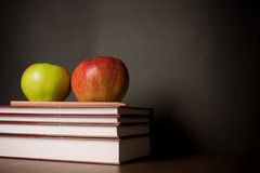 School books on desk Stock Photography
