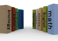 School books. In english language Stock Photos