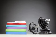 School Books and Fitness Equipment Stock Photography