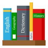 School Books Flat Icon Isolated on White Stock Photo