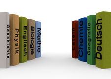 School books. In german language Royalty Free Stock Photography