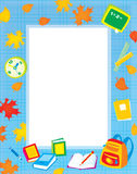 School border for your photo and text Stock Images