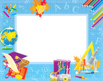 School border for your photo and text Royalty Free Stock Images