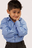 School Boy. Young School Boy feeling Sad stock photo