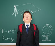 School boy with academic cap Stock Image