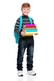 School boy with backpack Stock Photography