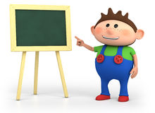 School boy with blackboard Royalty Free Stock Image