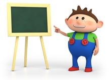 School boy with blackboard royalty free stock image