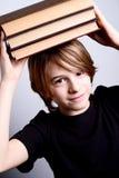 School boy with books Stock Image