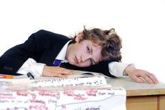 School boy bored Royalty Free Stock Image