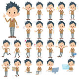 School boy Brown Blazer. Set of various poses of school boy Brown Blazer Royalty Free Stock Photos