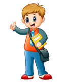 School boy cartoon giving the thumbs up Royalty Free Stock Photography