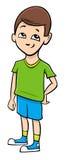 School boy cartoon illustration Stock Photos