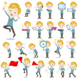 School boy Caucasian 2. Set of various poses of School boy Caucasian 2 Royalty Free Stock Image