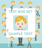 School boy Caucasian text box Royalty Free Stock Photos