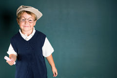 School boy with chalk Royalty Free Stock Images