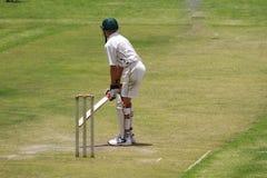 School Boy Cricket Player Preparing Royalty Free Stock Photo