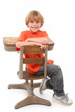 School Boy in Desk Royalty Free Stock Image